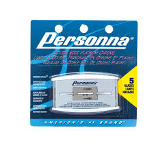 Personna Platinum Chrome Double Edge Razor Blades, 5/pack 1359