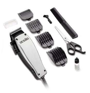 Andis MC-2 Easy Cut 10pc Haircutting Kit Silver #18485