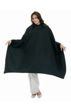 Size Above BD Plus Size Blk Barber Cape (Snap Closure) #2213