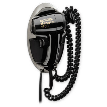Andis HD-5 Black Hang-Up 1600 Wall Mounted Hair Dryer #30220