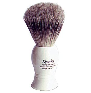 Kingsley Badger Shave Brush - White # 28