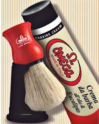 Omega Boar Shaving Brush & 100ml Shaving Cream Kit 45165