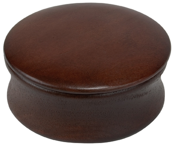 Natural Wood Dark Shave Soap Bowl #4892