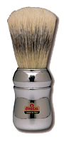 Marvy Shaving Brush No. 4 Omega Silver #531