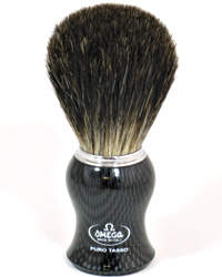 Omega Badger Shaving Brush Black Handle 6650