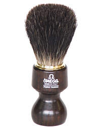 Omega Badger Shaving Brush Wood 6126-1462
