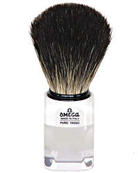 Omega Badger Shaving Brush Clear 6189