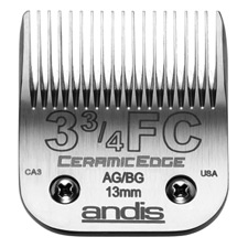 "Andis CeramicEdge Size 3-3/4FC/ Leaves hair 1/2"" - 13mm #64435"
