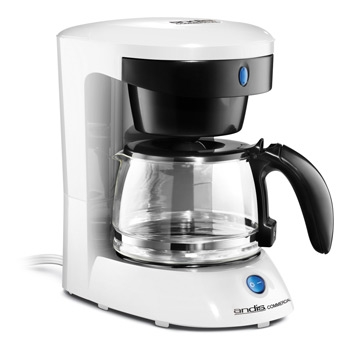 Andis ADC-3 Four-Cup Coffee Maker White/Glass #69055