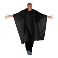 Betty Dain Super Size Blk Barber Cape (Velcro) Style #899V