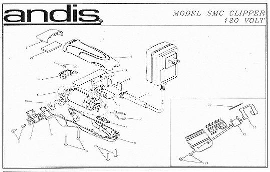 Andis Clipper Parts Diagram