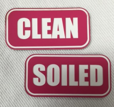 """CLEAN"" PLASTIC LABELS PINK/WHITE 8472"