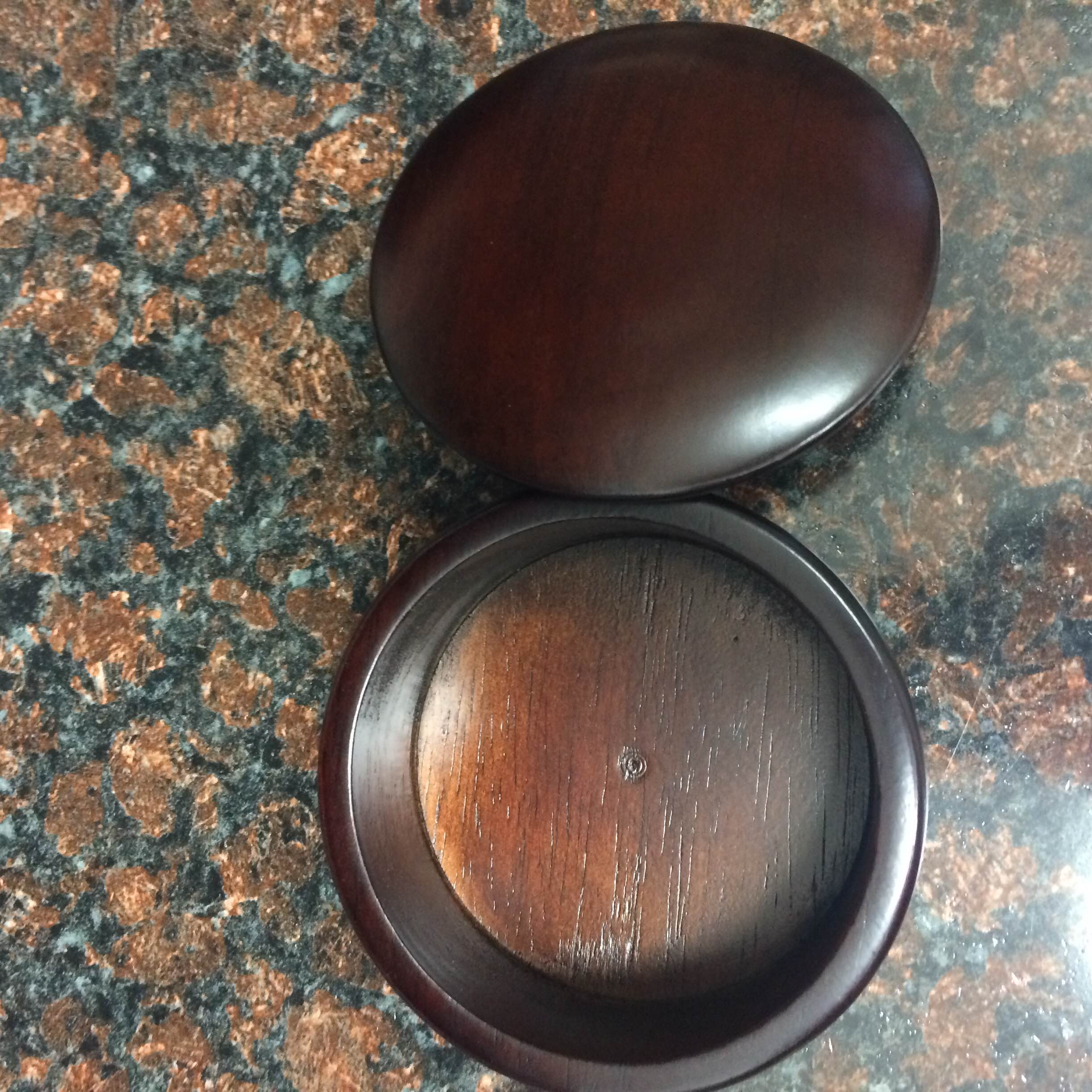 Dark Wood Shaving Bowl - 4892