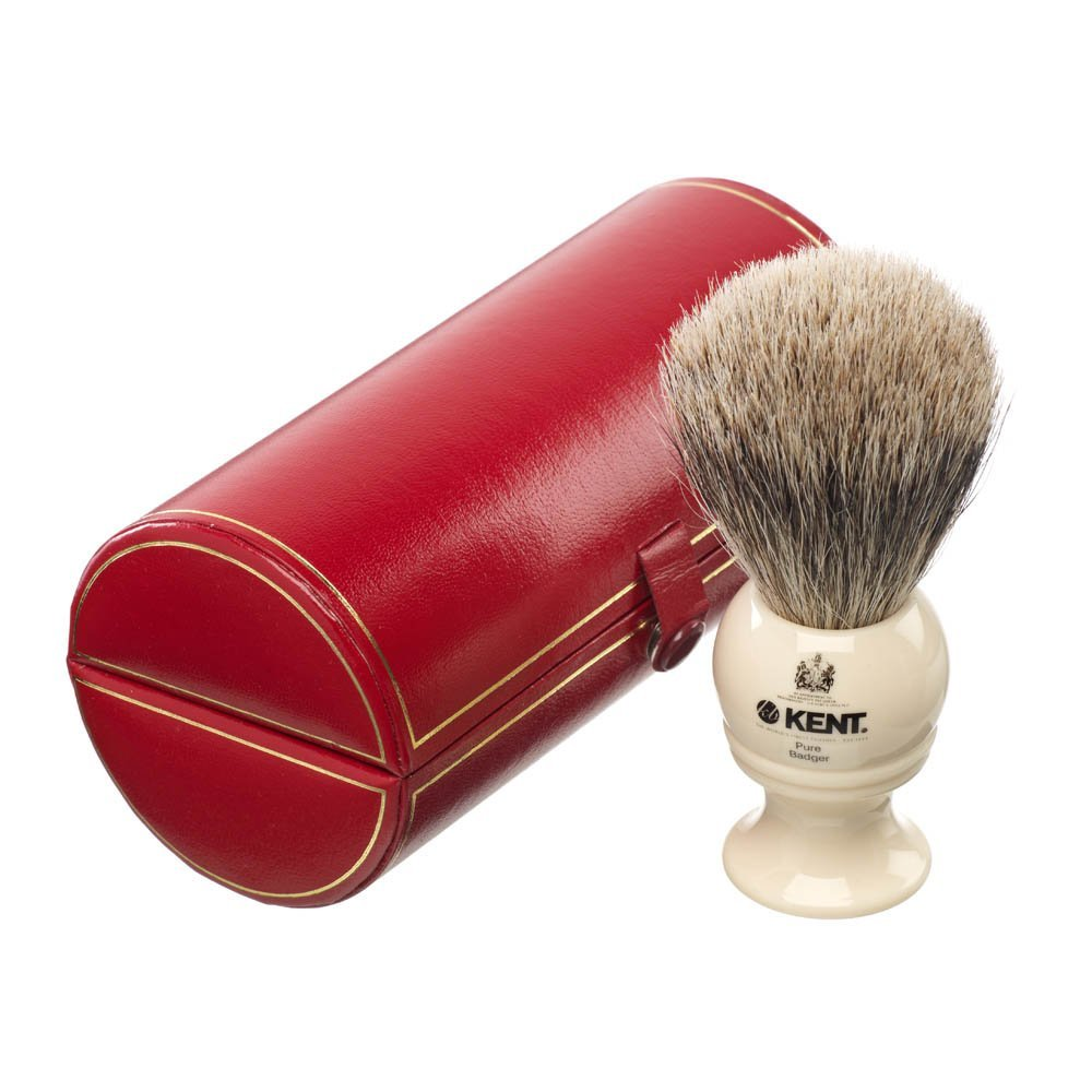 Kent Traditional Medium Silver Tip Badger Shaving Brush- BK4