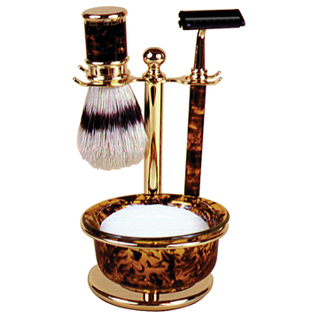 Mock Tortoise 4-Piece Shaving Gift Set #SB660