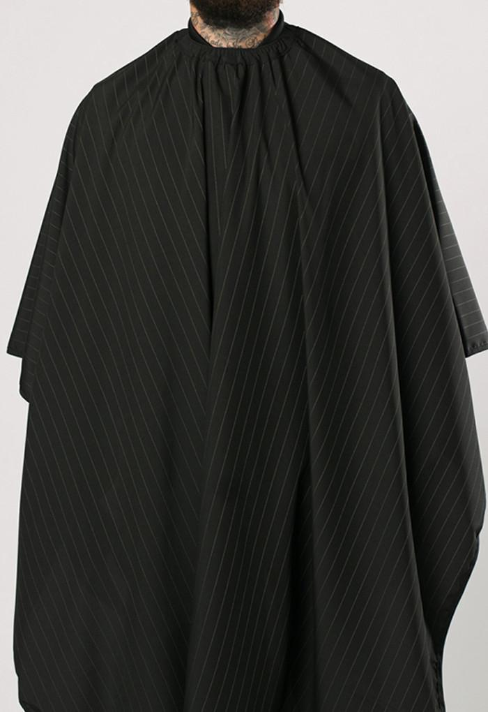 The Barber Cape Black w/White Pinstripes 8028