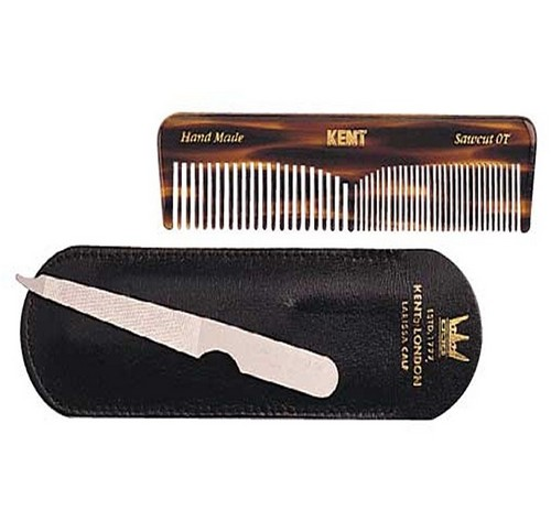 Kent Handmade Comb and File in Leather Case - NU19
