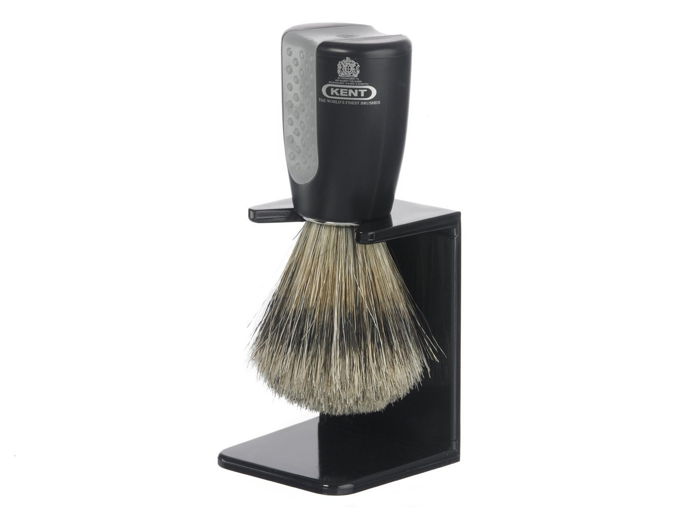 Kent Blended Bristle Brush and Stand Set