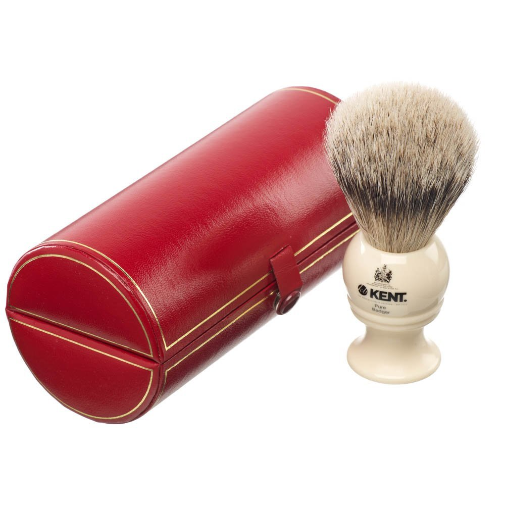 Kent Traditional Pure Grey Badger Shaving Brush- BK2