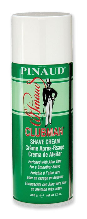 Clubman Pinaud Aloe Aerosol Shave Cream 12oz Can 275501