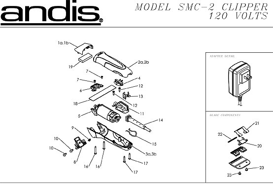 Andis SMC 5 Speed Switch #4888